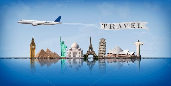 Message Concept Travel Around World