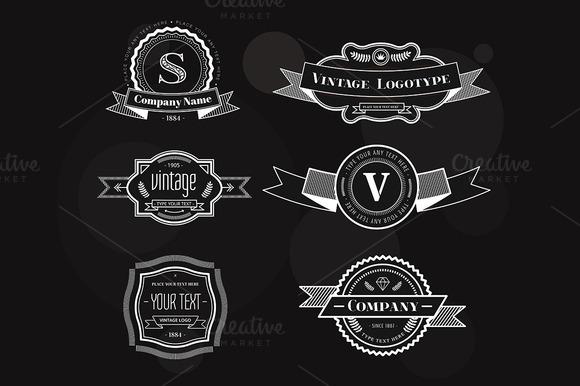 Vector Vintage Logo Elements Set