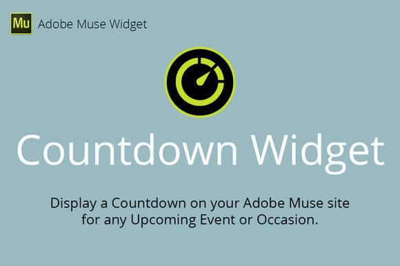 Countdown Adobe Muse Widget
