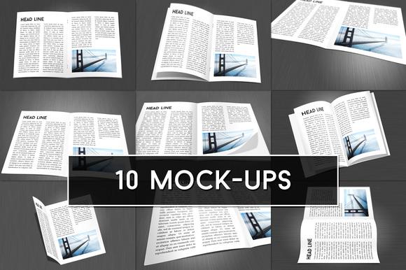 Brochure Magazine Mock-up