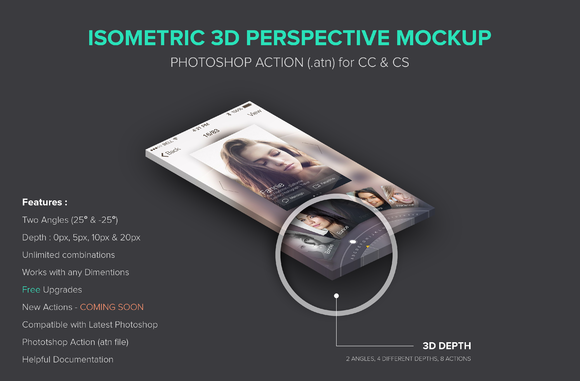 Isometric 3D Perspective Mockup Atn