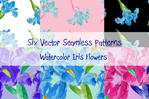 Watercolor Iris Set