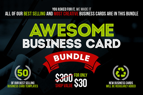 Awesome Business Card Bundle 50 PSD