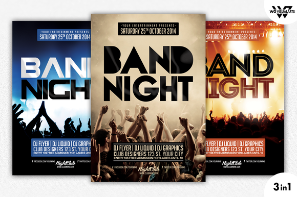 BAND NIGHT CONCERT Flyer Template