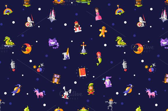 Fairy Tales Elements Pattern