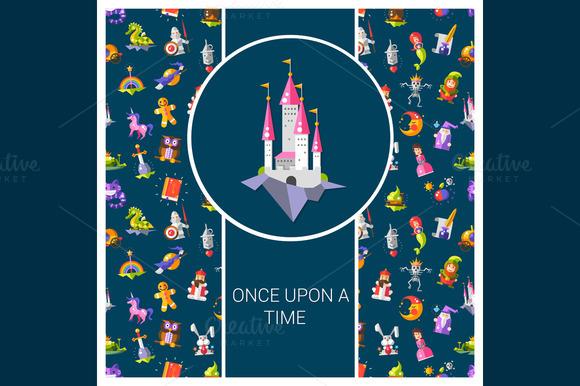 Fairy Tales Flat Design Postcard