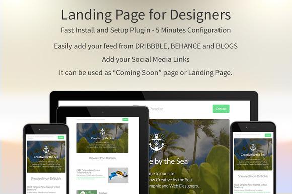 Landing Page For Designers Plugin