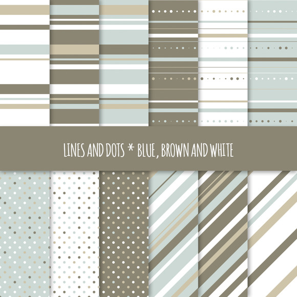 Seamless Patterns Dots And Stripes