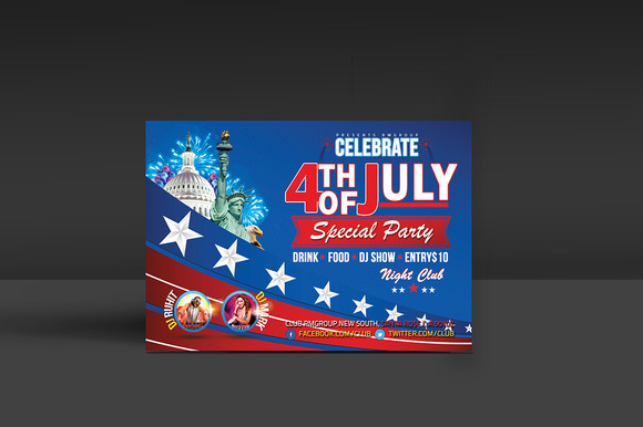 4th Of July Party Flyer Template