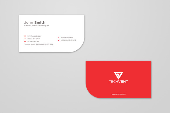 Simple Curve Business Card Template
