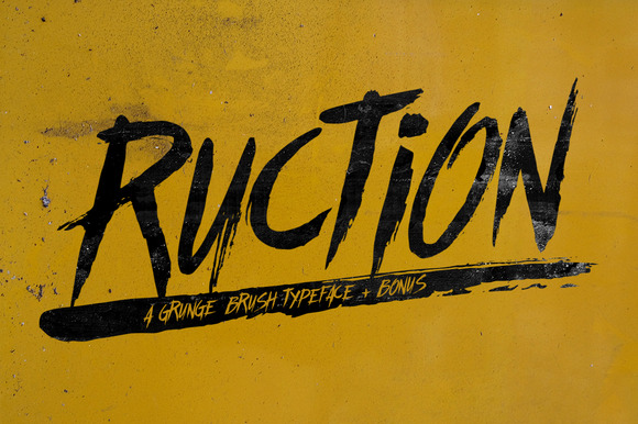 Ruction Typeface