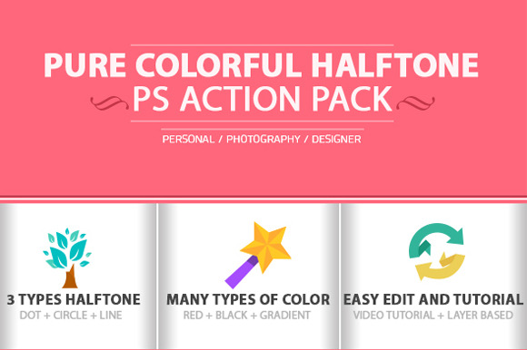 Colorful Halftone Photoshop Action
