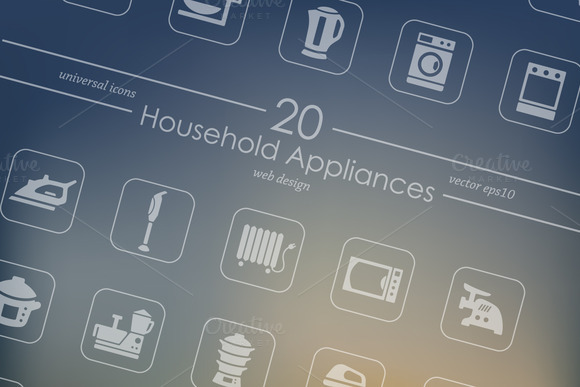 20 Household Appliances Icons