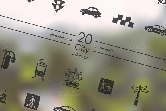 20 City Icons