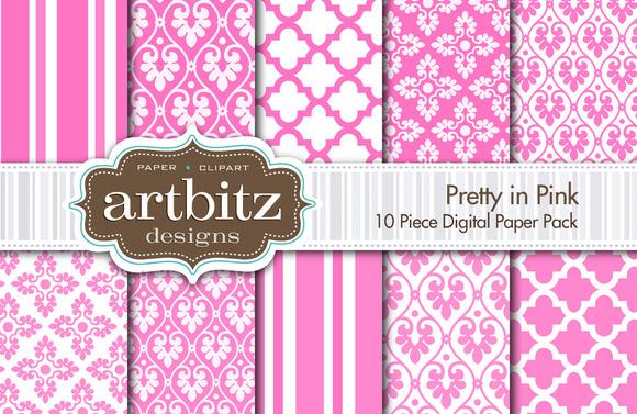 Pretty In Pink Digital Paper