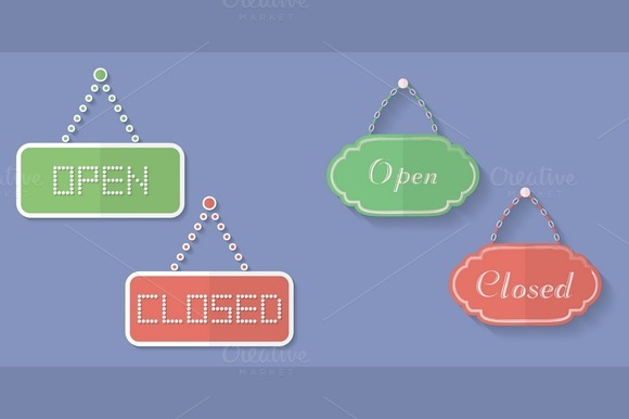 Signs Of Open And Closed