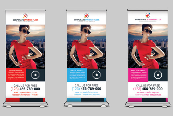 Corporate Business Rollup Banners