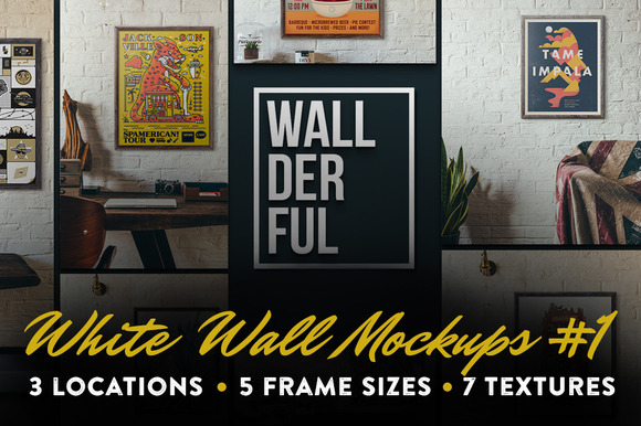 Wallderful White Wall Mockups #1