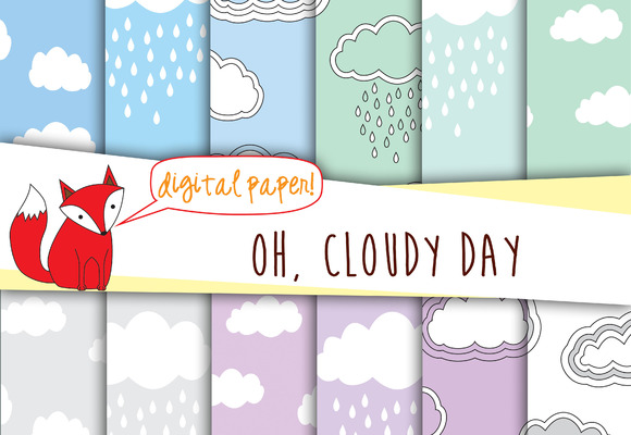 Clouds Digital Paper