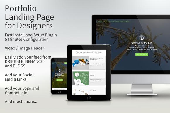 Portfolio Landing Page For Designers