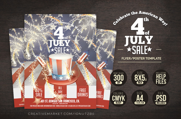 4th Of JULY Poster Flyer Template