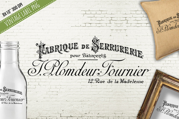 Old French Fabrique De Serrurerie