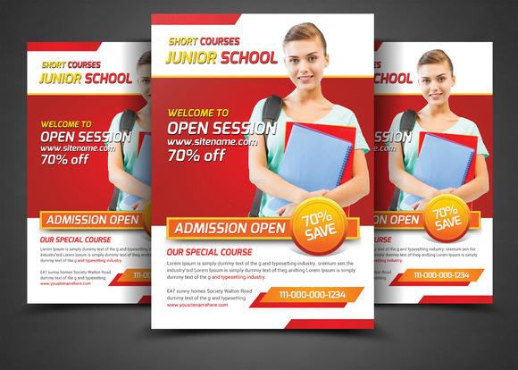 School Education Flyers Template