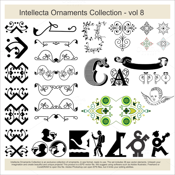 Intellecta Ornaments Collection 8
