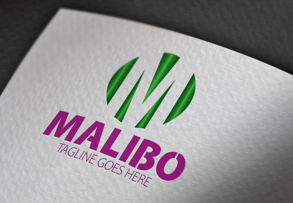 Malibo M Letter Logo