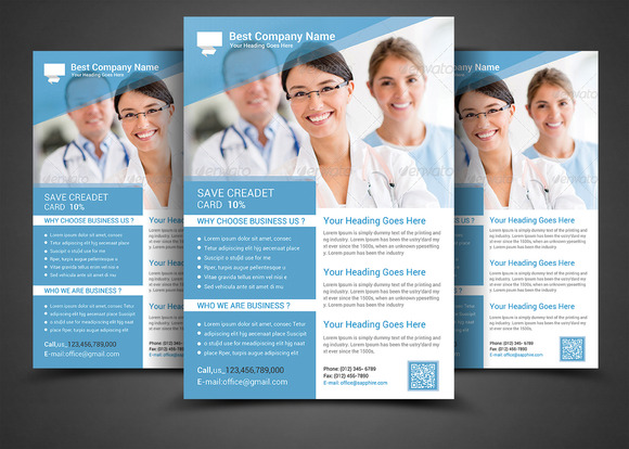 Health Medical Doctors Flyer Templ