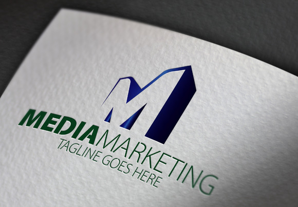 Media Marketing M Letter Logo