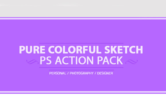 Colorful SketchArt Photoshop Action
