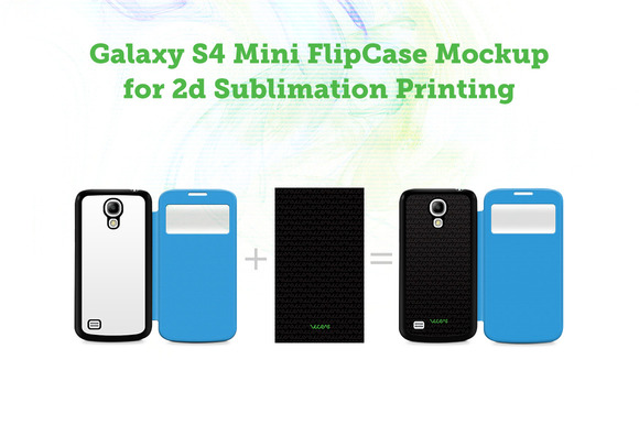 Galaxy S4 Mini Flip Case Mockup