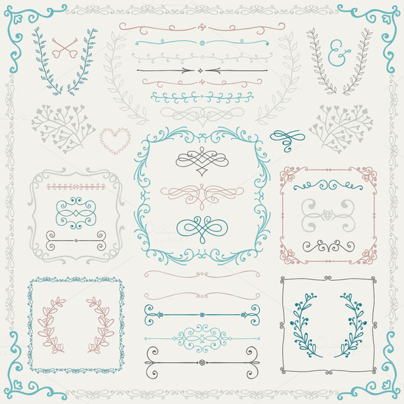 Colorful Hand Drawn Design Elements