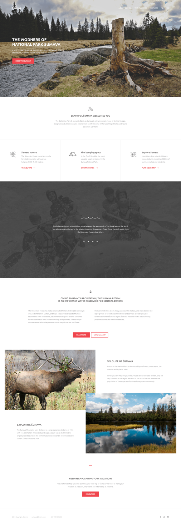 Sumava One-Page Template