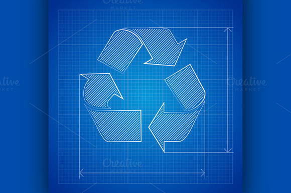 Blueprint Recycle Symbol