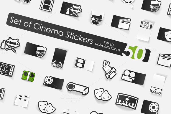 50 Cinema Stickers