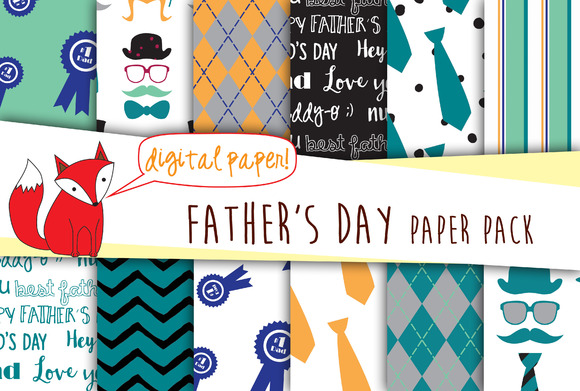 Father S Day Digital Paper