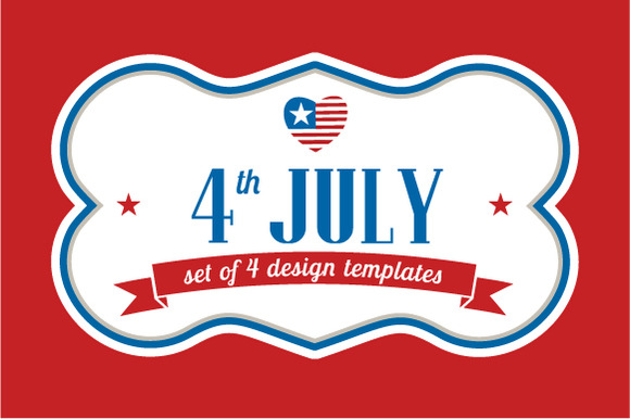 4th July Template Designs Ribbons