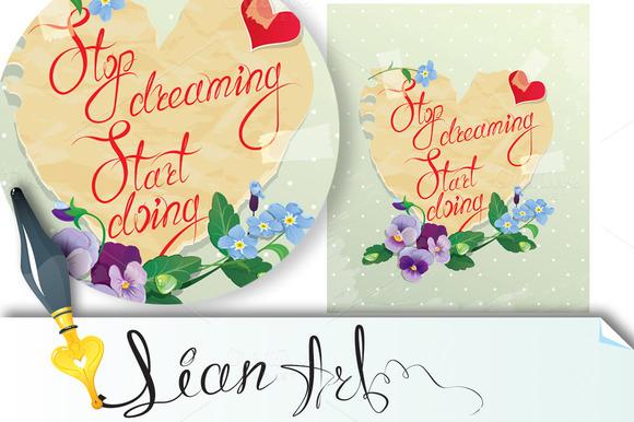 Card Stop Dreaming Start Doing