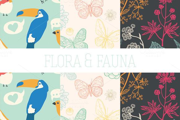 Flora Fauna Set