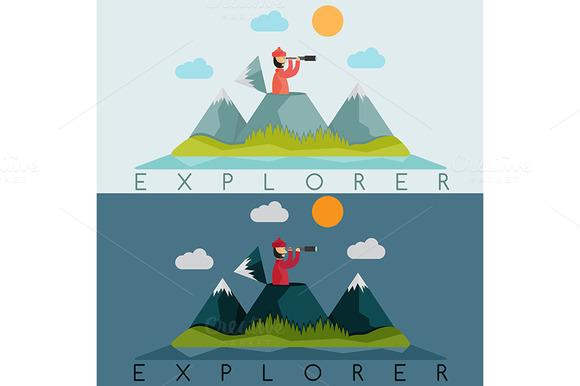 Explorer With Spyglas
