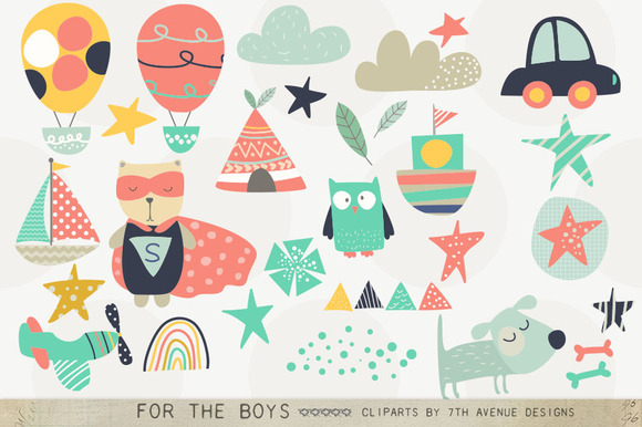 For The Boys Clipart