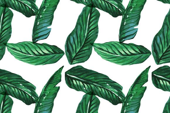Seamless Vector Palm Tree Print