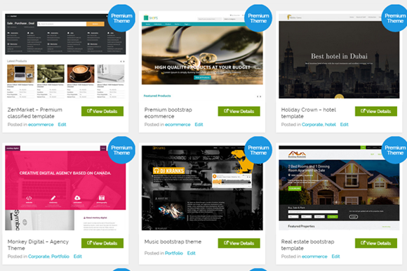 8 Premium Bootstrap Themes At $30