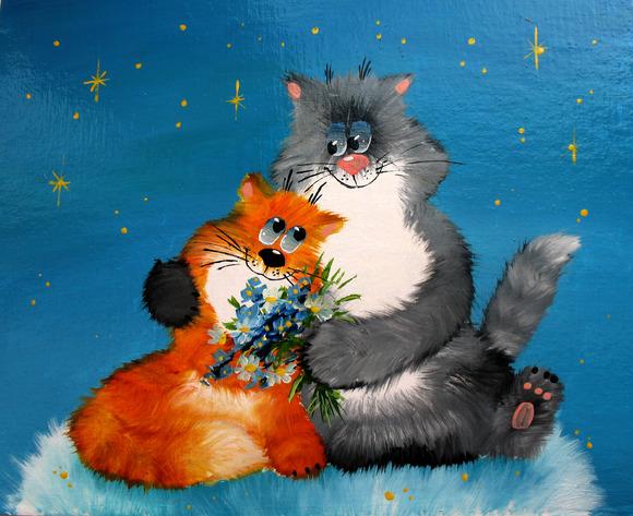 #14 Enamoured Cat And Cat