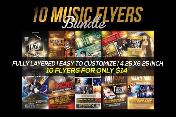 10 Music Flyers Bundle
