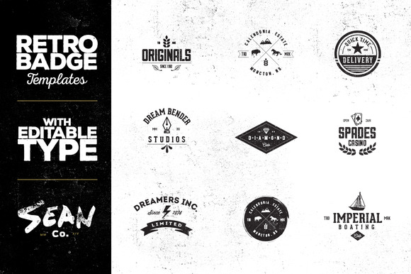 Vintage Badge Logo Templates Vol 1