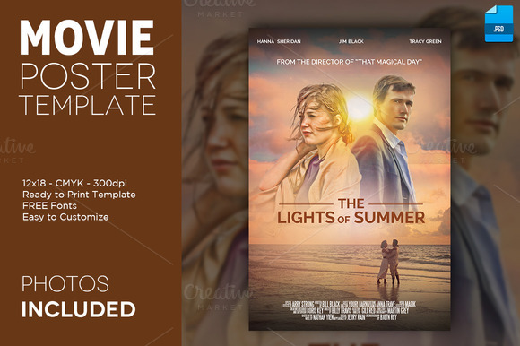 Movie Poster Print Template 1 12x18