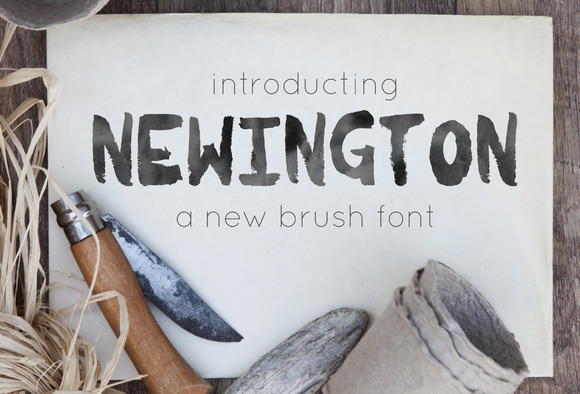 Newington A Brush Font